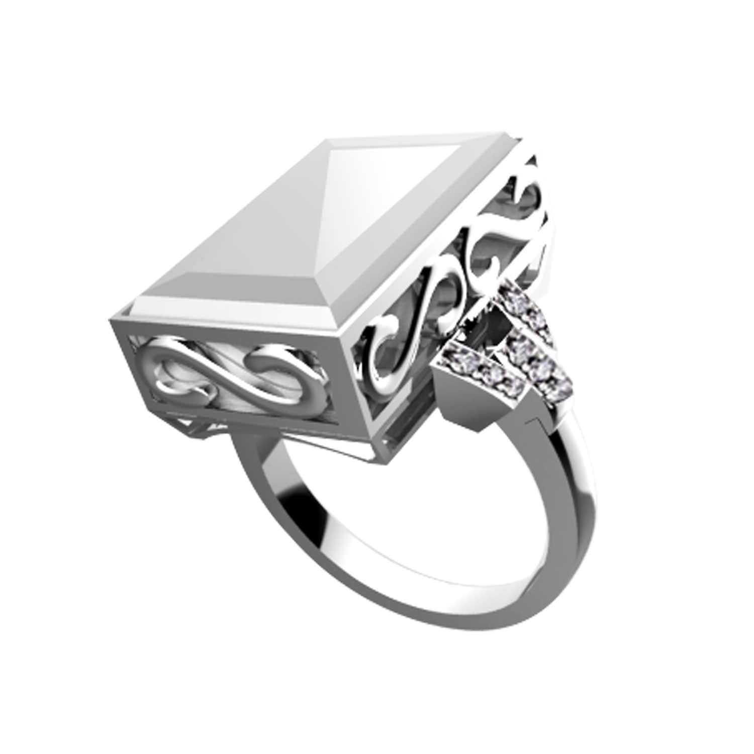 7 Ares Smart Ring - Silver & White - Buy Smart Rings