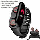 AI Smart Watch M1 With 2 Bluetooth Earphone Heart Rate Monitor Smart Wristband
