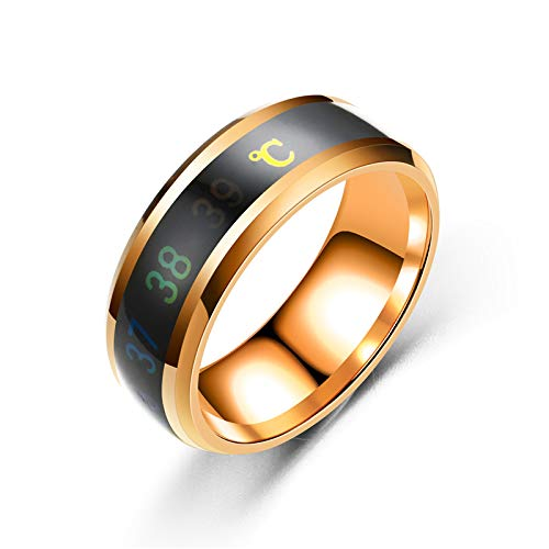 AJEERD Unisex Temperature Monitor Mood Ring - ROSE GOLD