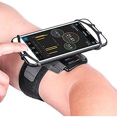 Amazon.com: Newppon 180° Rotatable Running Phone Armband ...