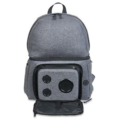 Backpack Cooler With 15-Watt Bluetooth Speakers & Subwoofer (Gray, 2018 Edition)