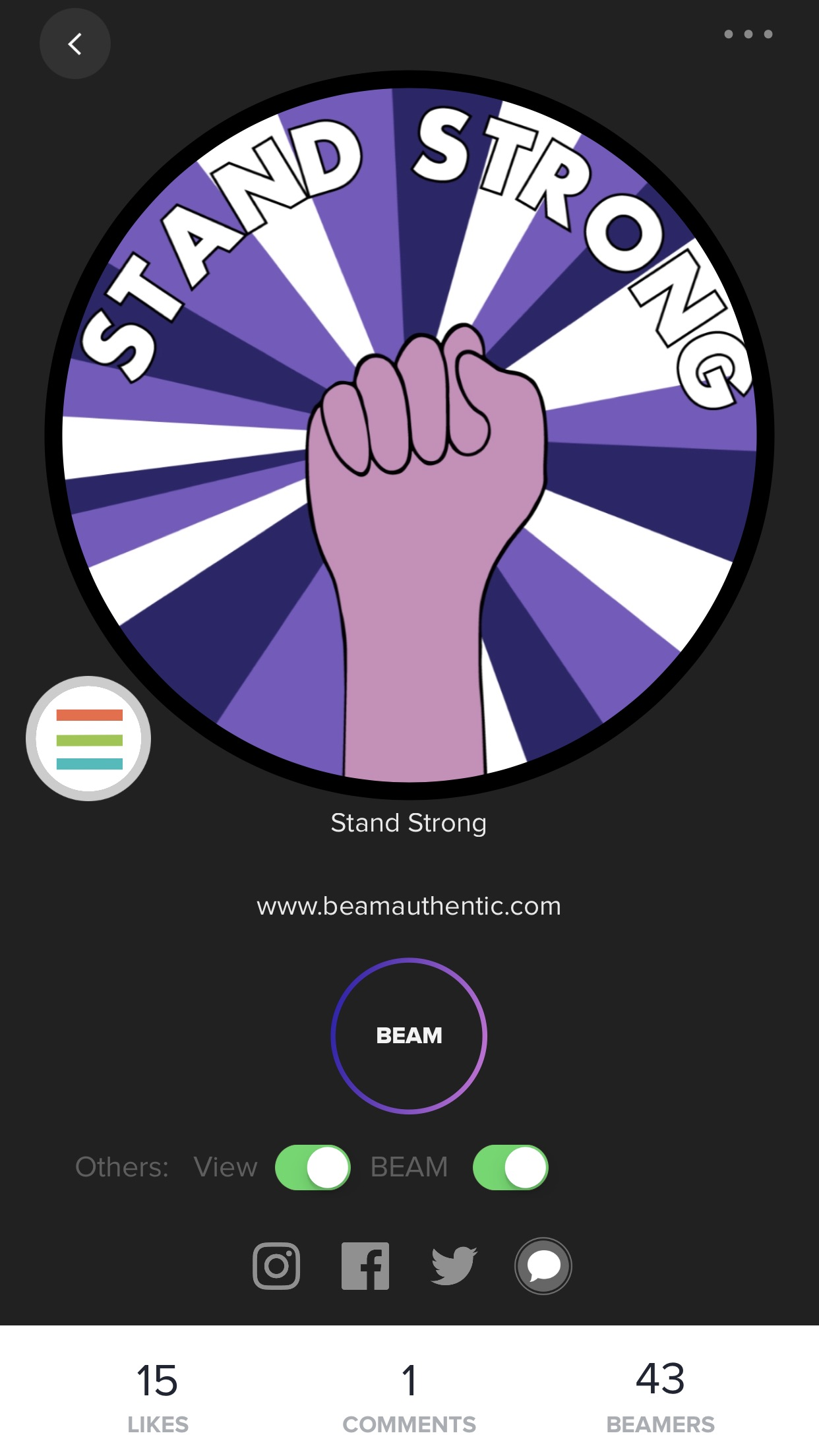 Beam Authentic: A smart button that lets you broadcast ...