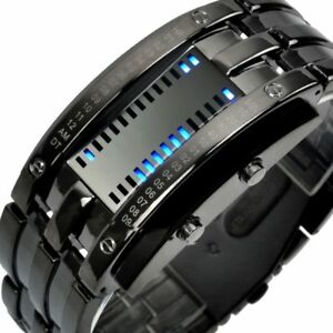 Binary Matrix LED Digital Waterproof Watch Men's Women ...