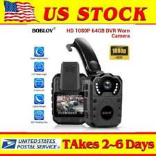 BOBLOV 1080P Police Body Camera Night Vision Law Enforcement Security Guard Cam