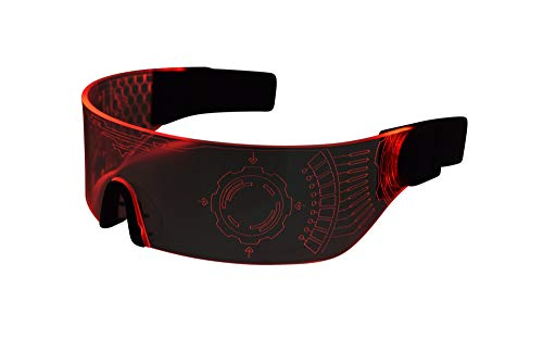 Cyberpunk LED Visor Glasses - RED