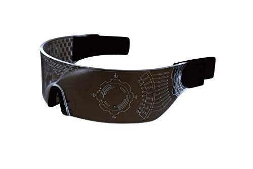 Cyberpunk LED Visor Glasses - WHITE