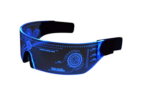 Blue Tron LED VIsor Glasses