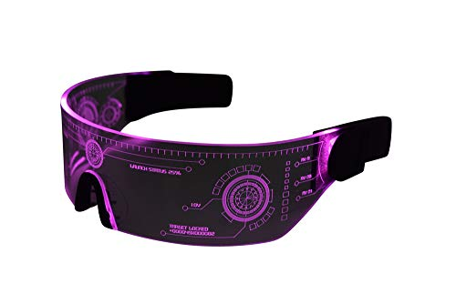 Pink Tron LED VIsor Glasses