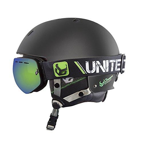 DEMON UNITED Faktor Helmet w/Audio + Goggles - BLACK