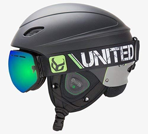 DEMON UNITED Phantom Helmet w/Audio + Snow Supra Goggles - BLACK