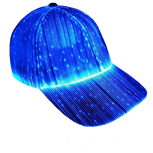 Fiber Optic Cap LED hat with 7 Colors Luminous Glowing Hat