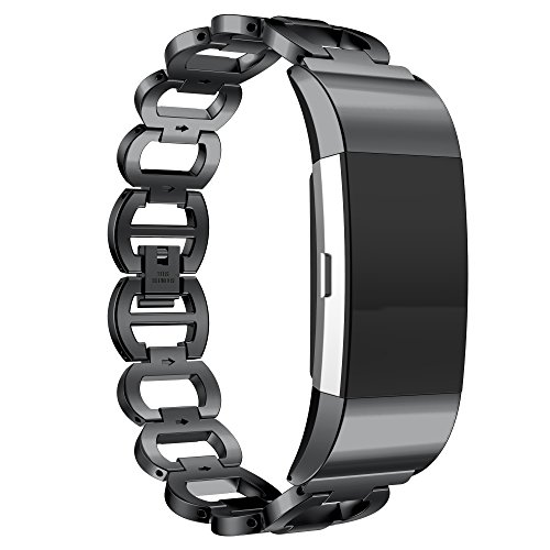 Fitbit Charge 2 Premium Metal Band - BLACK