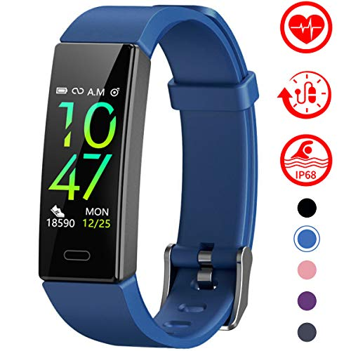 Fitness Tracker with Blood Pressure Monitor - BLUE
