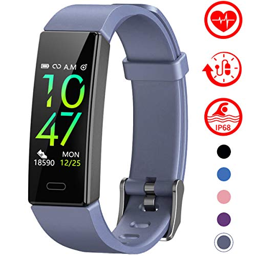 Fitness Tracker with Blood Pressure Monitor - GRAY
