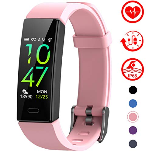 Fitness Tracker with Blood Pressure Monitor - PINK