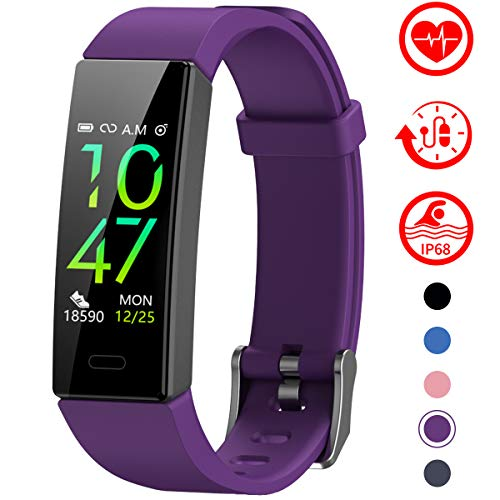 Fitness Tracker with Blood Pressure Monitor - PURPLE
