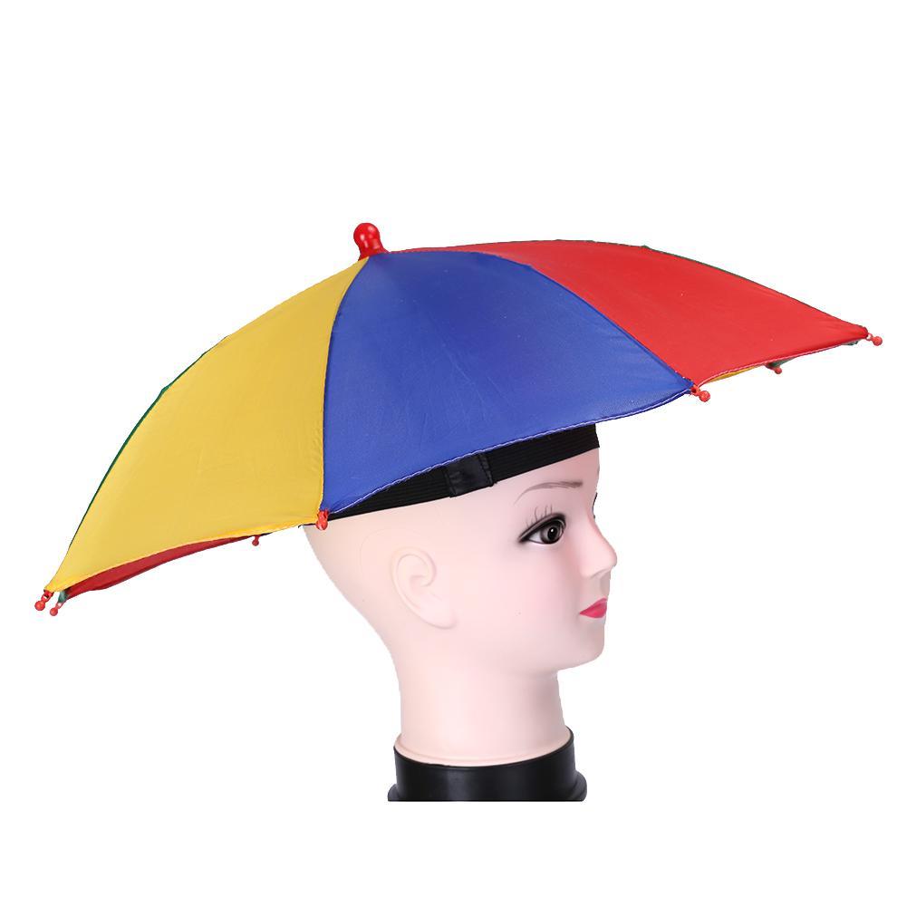 Foldable Sun Umbrella Hat UV Protection Fishing Camping ...