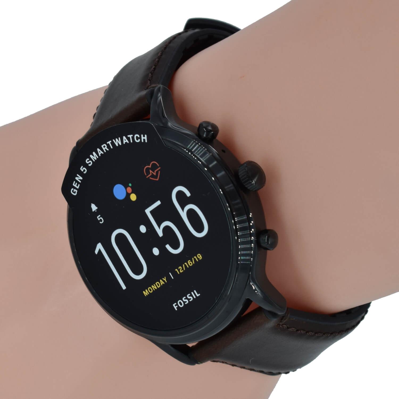 Fossil Q Herren Uhr Gen 5 Smartwatch FTW4026 Carlyle HR ...