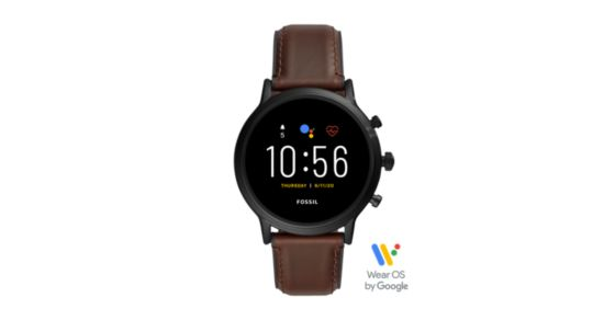 Gen 5 Smartwatch - The Carlyle HR Dark Brown Leather - Fossil