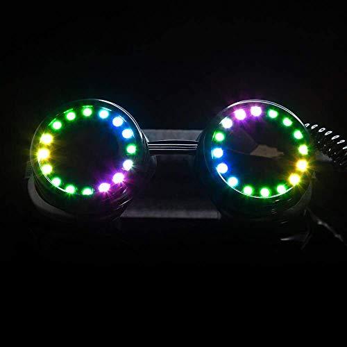 GloFX LED Pixel Pro Goggles - Diffraction Lens