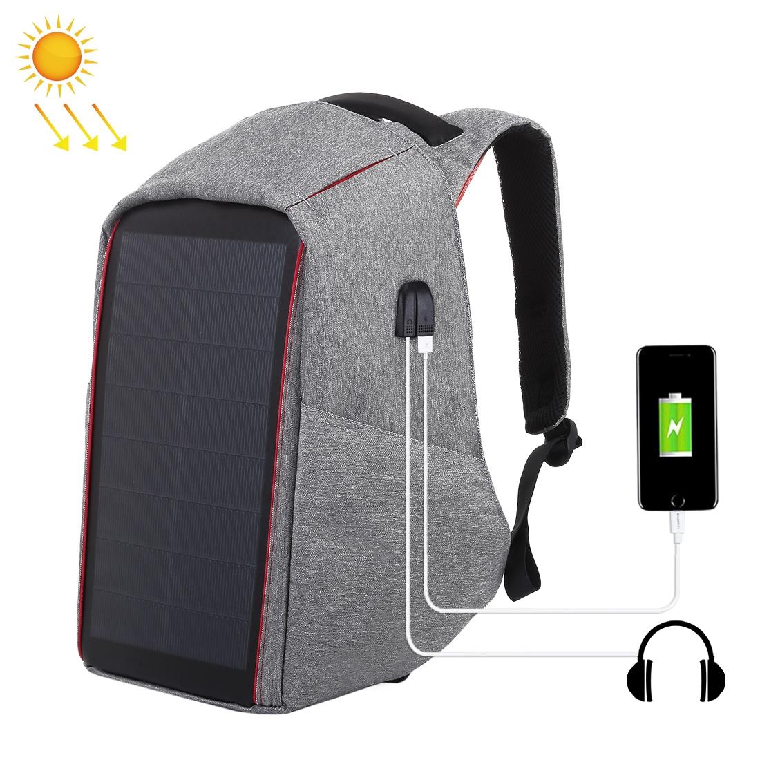 HAWEEL 12W Flexible Solar Panel Power Backpack Anti-theft ...