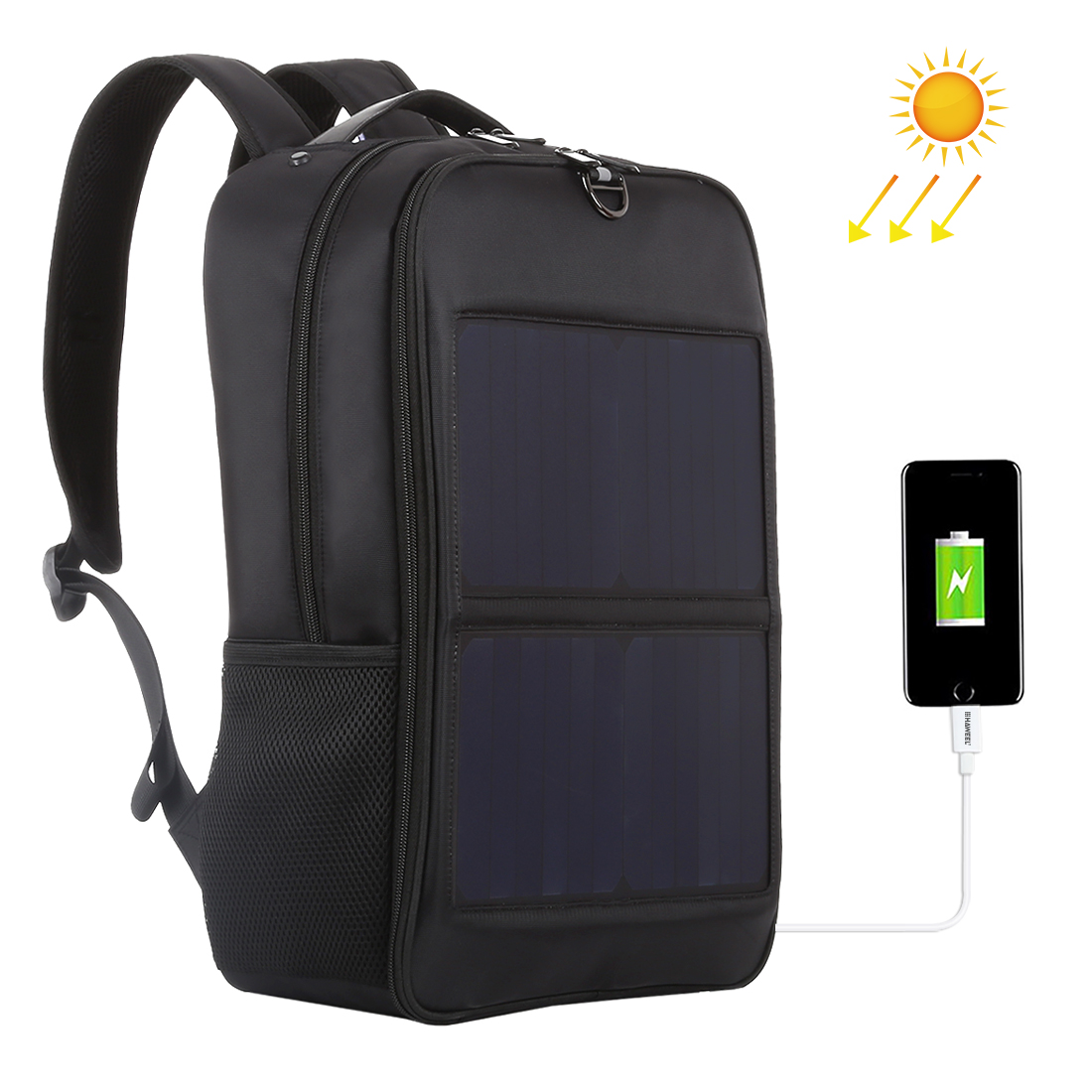 HAWEEL 14W Solar Panel Power Backpack Laptop Bag with ...