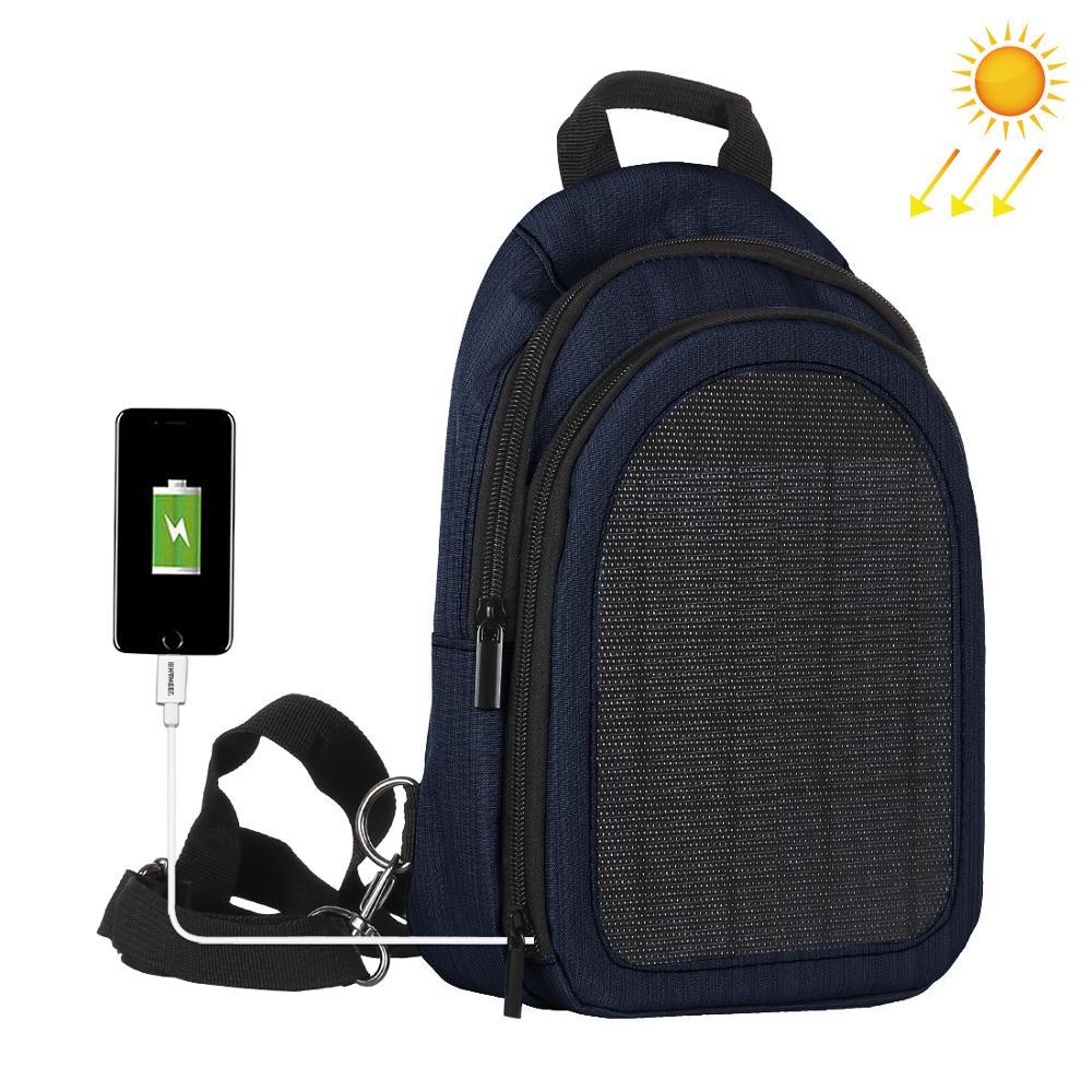 Haweel 5W Solar Panel Men Backpack Powered Backpack Usb ...