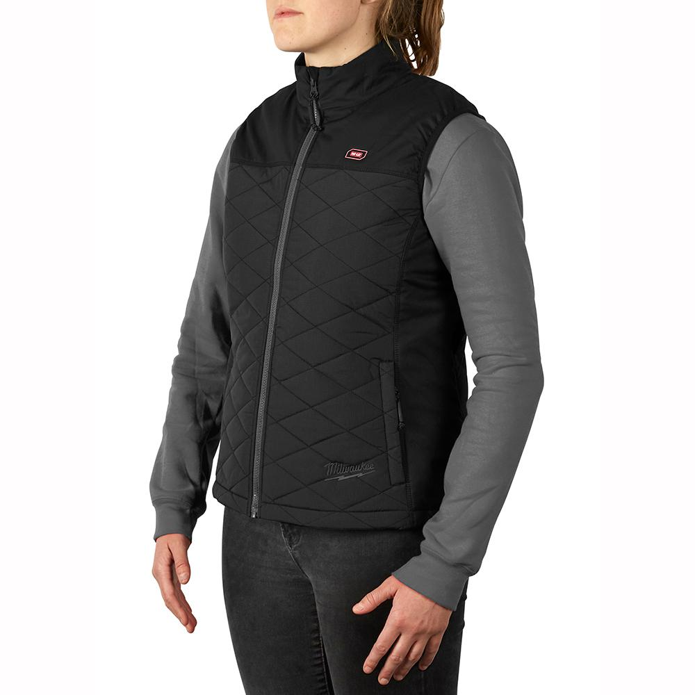 Heated Quilted Vest Cordless AXIS Black Womens Large 12 ...