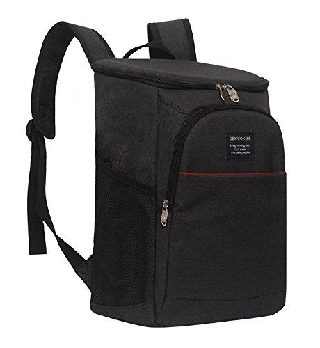 Insulated Cooler Backpack - BLACK