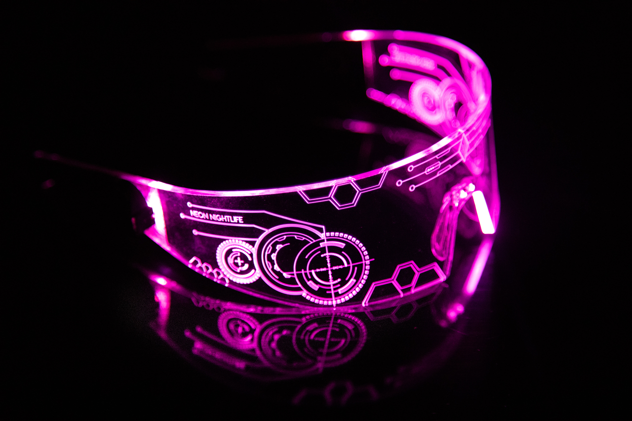 LED Light Up Glasses V2 - Neon Nightlife