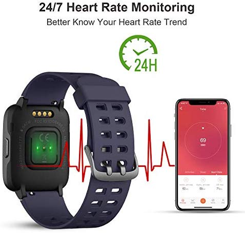 LETSCOM Fitness Tracker with Heart Rate Monitor, Activity ...