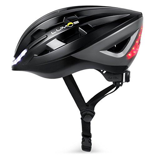 Lumos LLHE Kickstart Lite Smart Bike Helmet - Charcoal Black