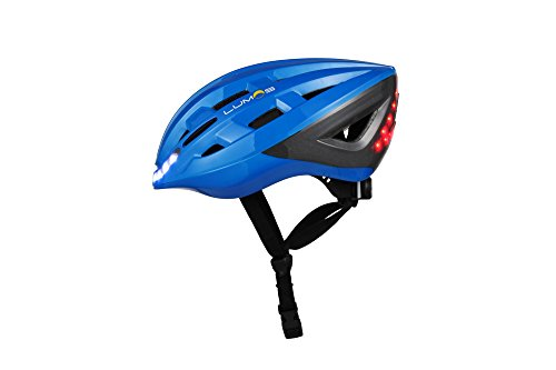Lumos LLHE Kickstart Lite Smart Bike Helmet - Chromium Blue