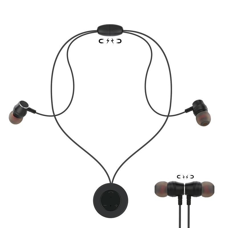 Magnetic Necklace Bluetooth Headset Stereo 4.2 Sports ...