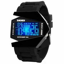 Men Sports Military Watches Digital Airplane Shaped LED Colorful Light Watches