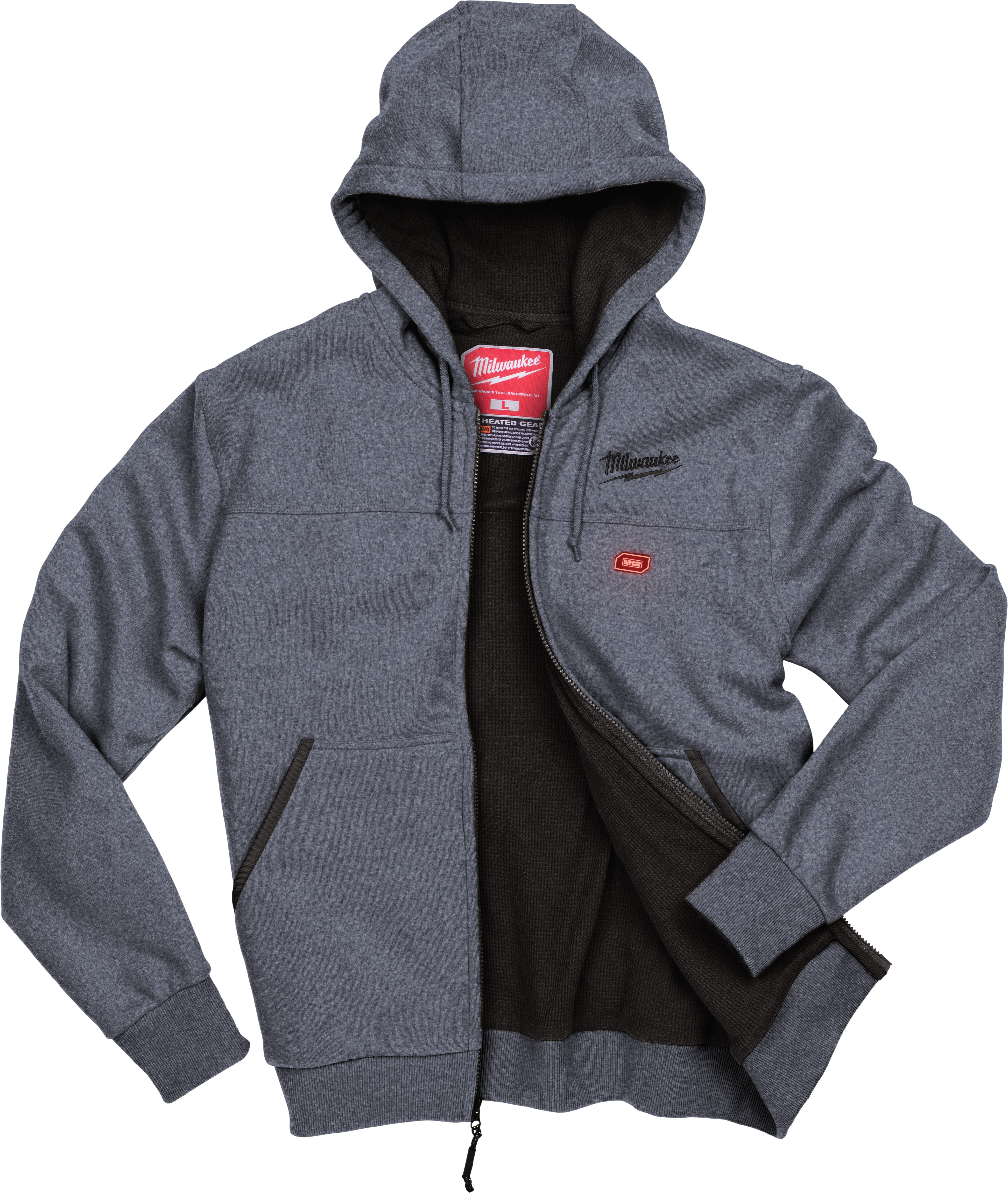 Milwaukee 301G-20 M12 Gray Heated Hoodie (Hoodie Only)