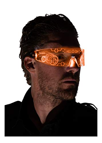 Neon Nightlife LED Light Up Glasses, Orange