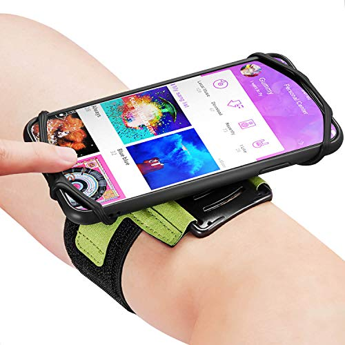 Newppon 180° Rotatable Armband with Key Holder - Green
