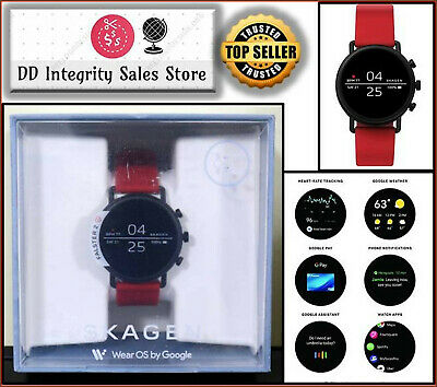 NEWSEALED Skagen Connected Falster 2 RED Silicone Touchscreen Smartwatch SKT5113