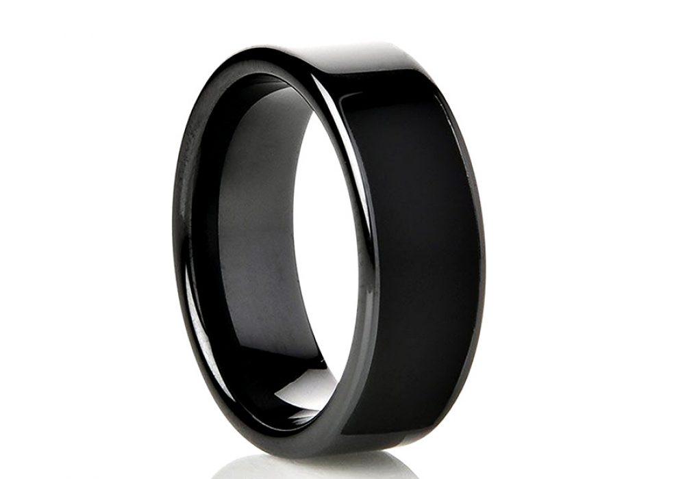 NFC Ring Ceramic Eclipse Smart Ring - NoveltyStreet