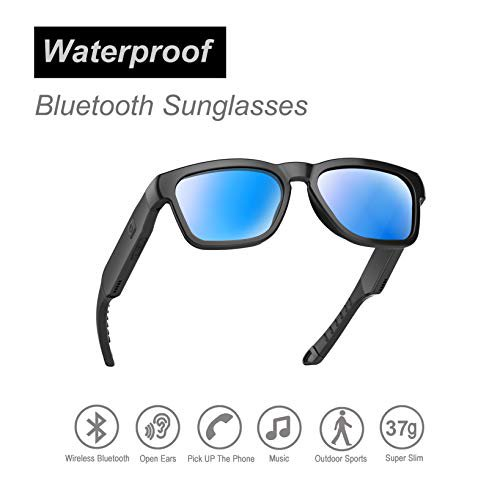 OhO sunshine Water Resistant Audio Sunglasses, Fashionable Bluetooth Sunglasses to Listen Music and Make Phone Calls,UV400 Po