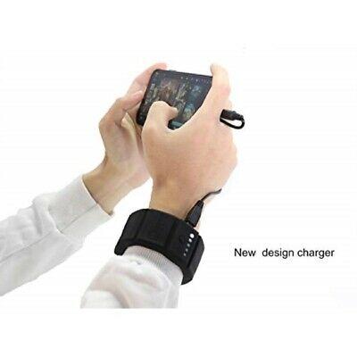 OMAX Wrist Power Bank Battery Charger Adjustable Bracelet Recharger Battery wit