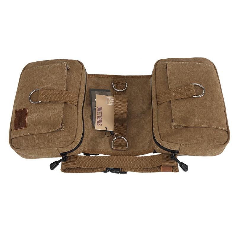 OneTigris Cotton Canvas Dog Backpack Hound Saddle Bag ...