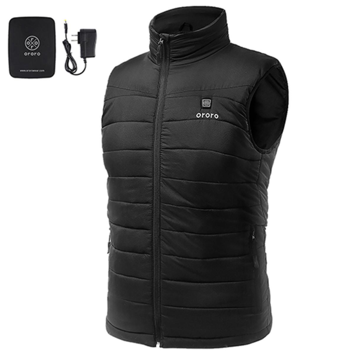 Ororo Men's Lightweight Heated Vest with Battery Pack ...