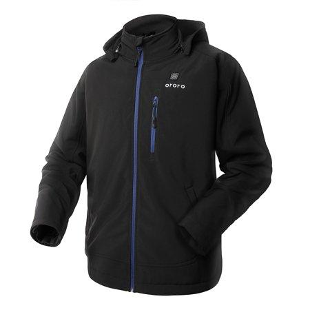 ororo - ororo Men's Soft Shell Heated Jacket Kit With ...