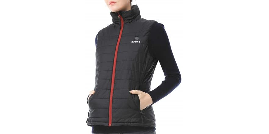 ORORO Women's Lightweight Heated Vest w/ Battery Pack