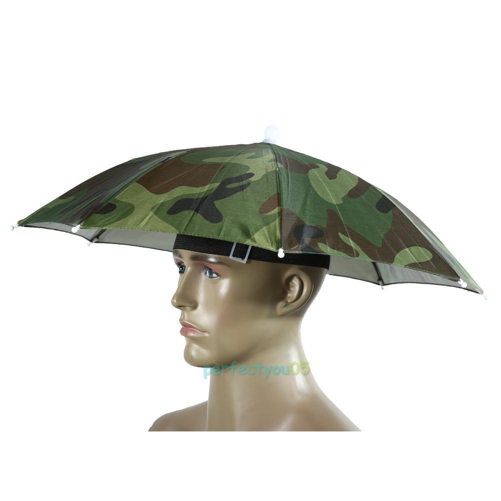 Outdoor Foldable Sun Umbrella Hat Golf Fishing Camping ...