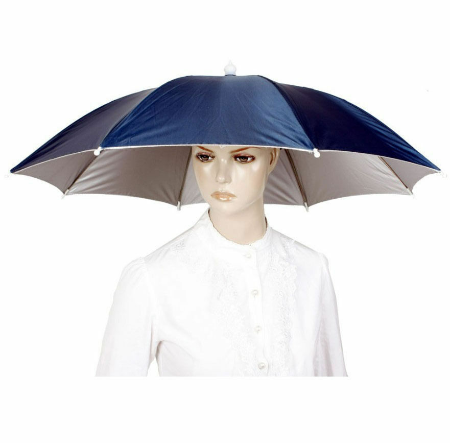 Outdoor Large Cycling Fishing Umbrella Hat Rain Raining ...