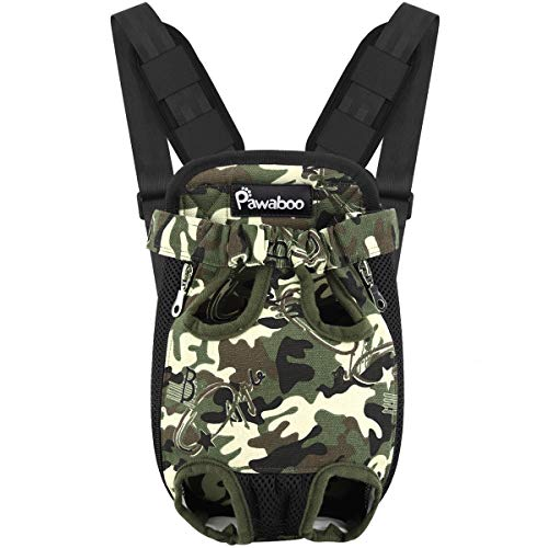Pawaboo Pet Carrier Backpack - Medium, Deep Camouflage Black