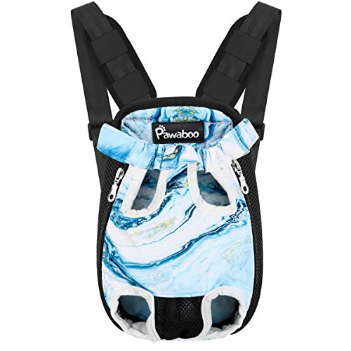 Pawaboo Pet Carrier Backpack - Extra Large, Blue Marble